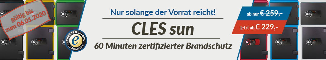 Sonderaktion - CLES sun Brandschutztresor